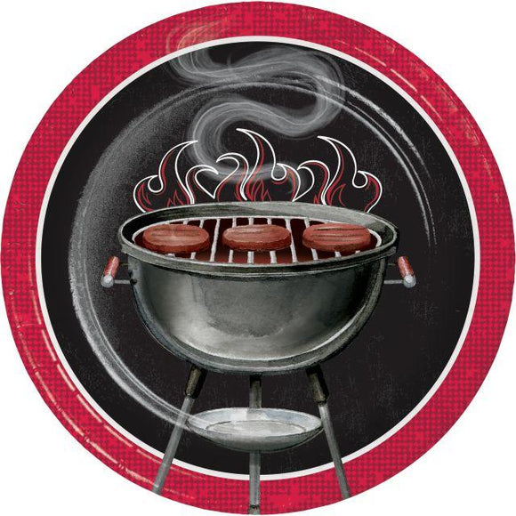 BBQ 7 Inch Paper Plates