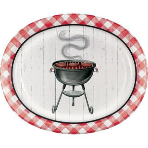 BBQ 10 Inch Oval Paper Plates