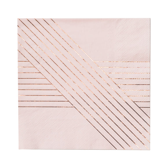 Amethyst Pale Pink Striped Large Napkin