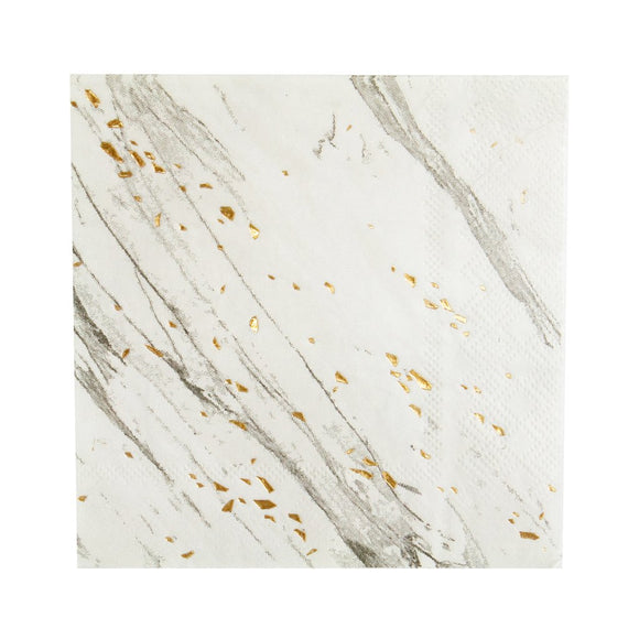 Blanc White Marbled Large Napkin