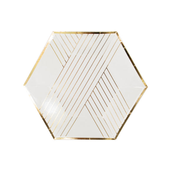 Blanc White Striped Small Plate