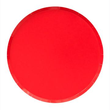 Cherry Red Plates (Large)