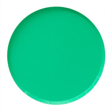 Kelly Green Paper Plates (Large)
