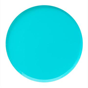 Sky Blue Paper Plates (Small)