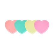 Neon Heart Shaped Plates Set
