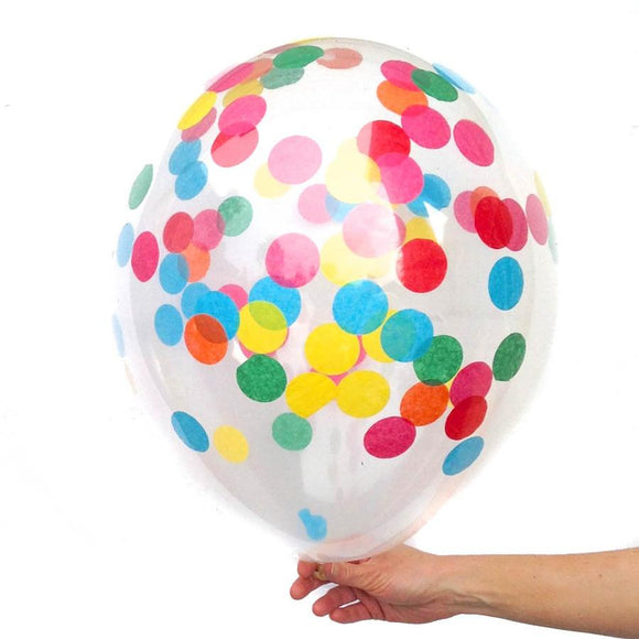 Multi Colored Confetti Balloon (16 Inch)