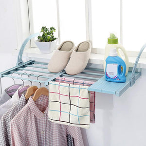 HOME BALCONY HANGING SHELF CLOTHES / SHOES DRYING RACK