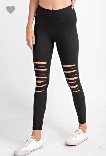Distressed Butter Leggings