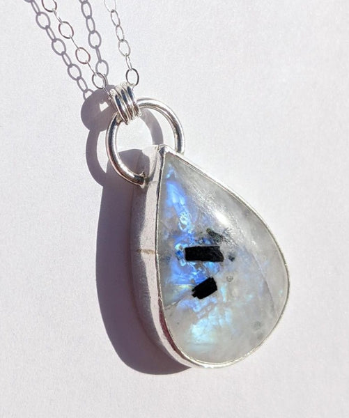 Sterling Silver Moonstone Necklace