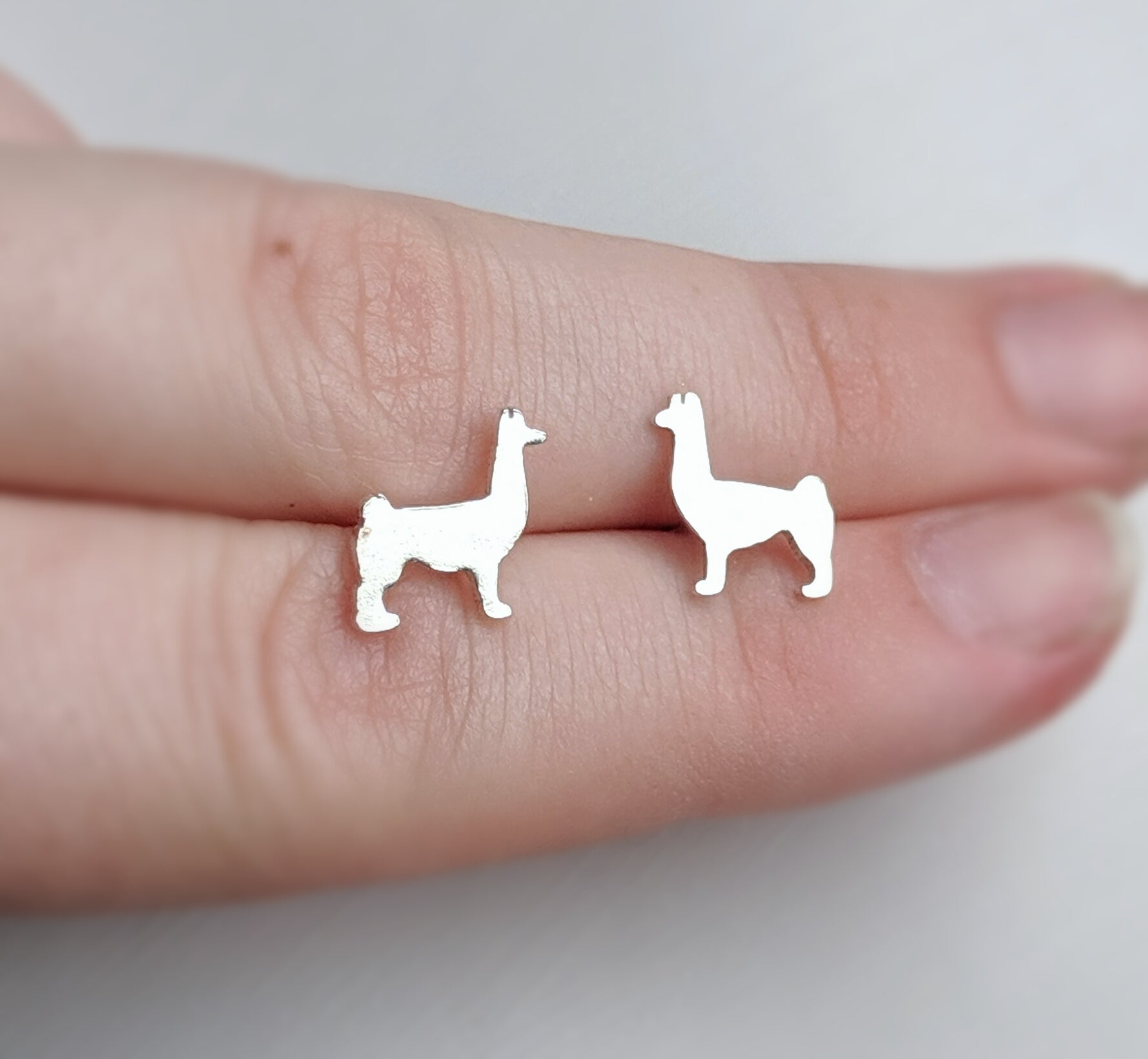 Sterling Silver Llama Earrings
