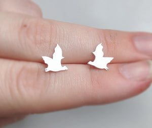 Sterling Silver Fruit Bat Earrings handmade by An American Metalsmith