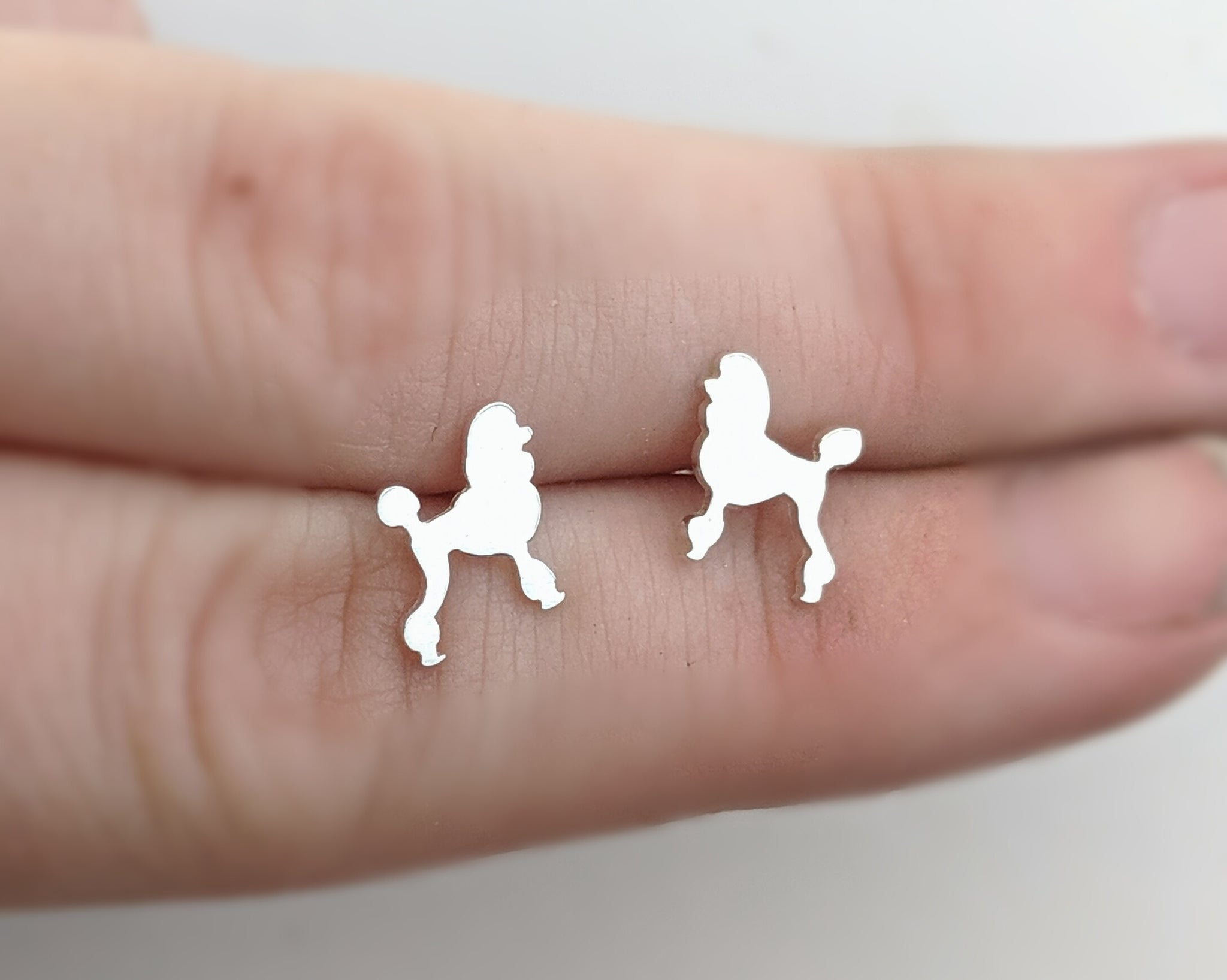Sterling Silver Poodle Earrings Handmade by An American Metalsmith