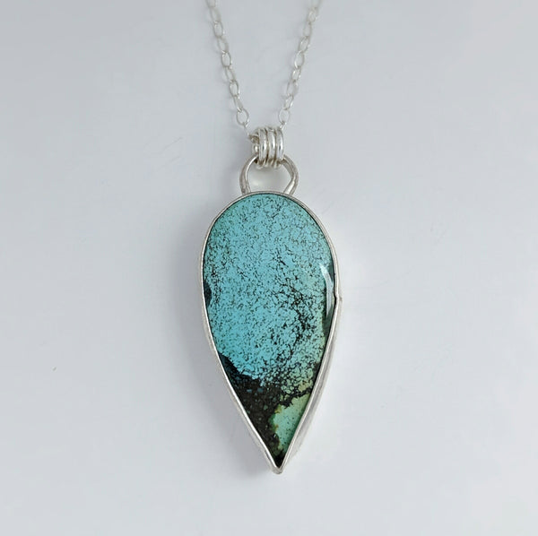Sterling Silver Hubei Turquoise Necklace