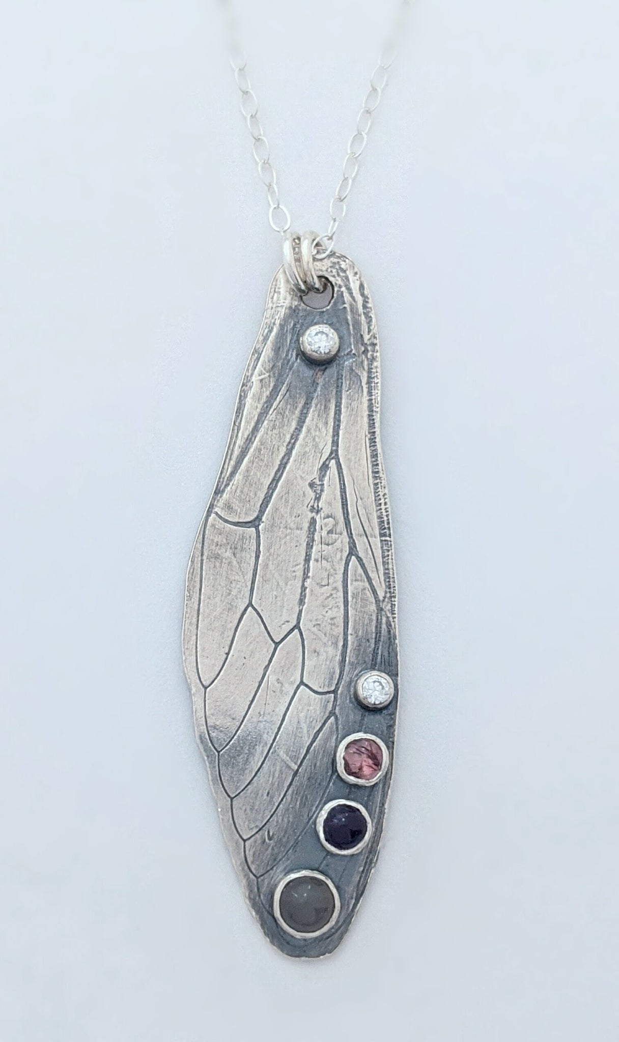Sterling Silver Cicada Wing Necklace