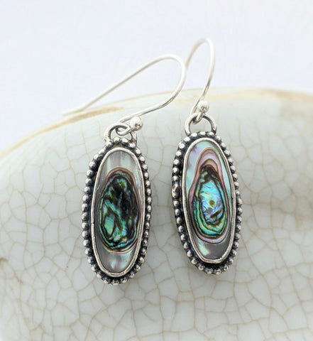 Sterling Silver Abalone Earrings