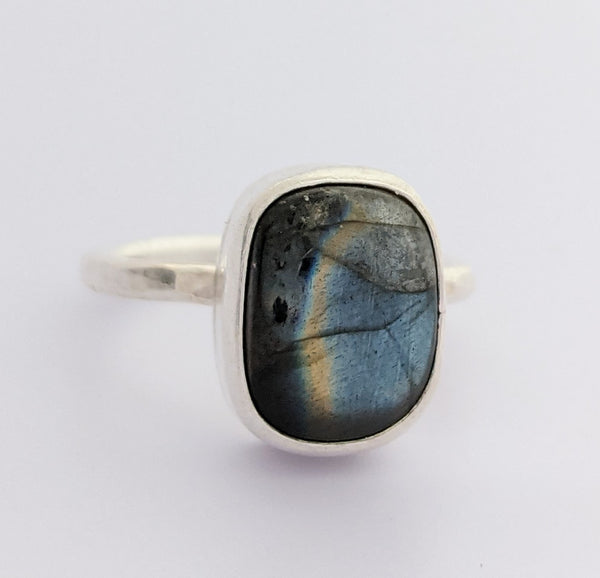 Sterling Silver Labradorite Ring Size 8.5 US