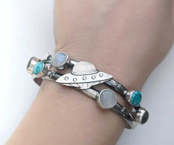 "Sterling Silver ""Watch Out for That Rock"" Bracelet"