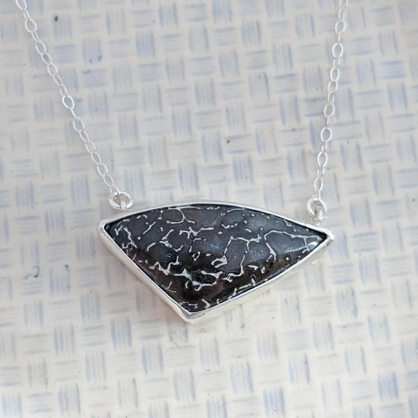 Sterling Silver Dinosaur Bone Necklace
