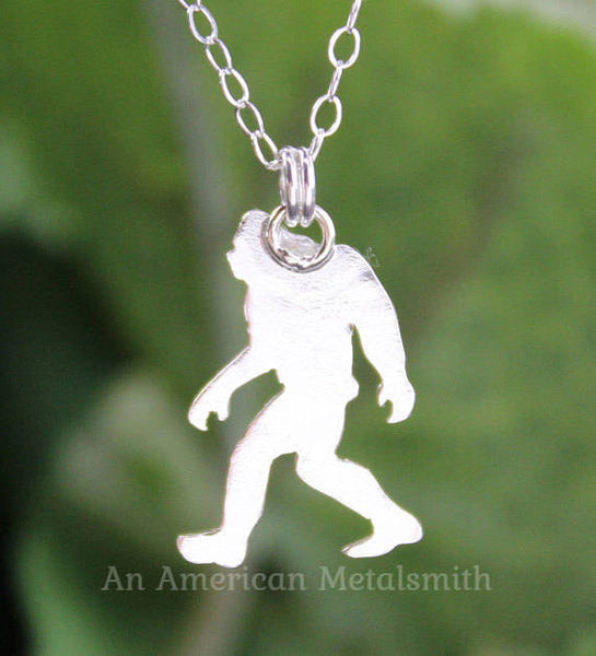 Sterling silver Sasquatch necklace