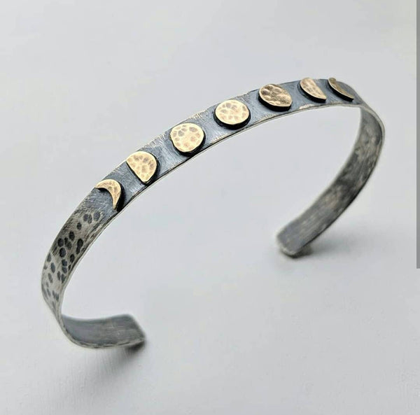 Sterling Silver Moon Phase Bracelet
