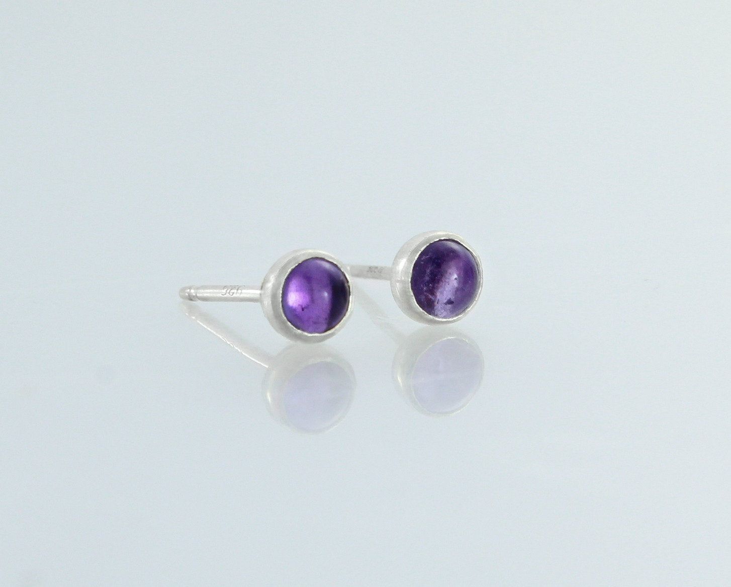 Sterling silver amethyst earrings made by An American Metalsmith