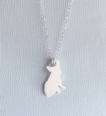 Sterling Silver French Bulldog Necklace handmade by An American Metalsmith