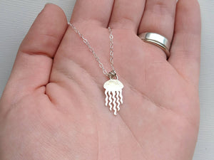 Sterling Silver Jellyfish Necklace handmade by An American Metalsmith