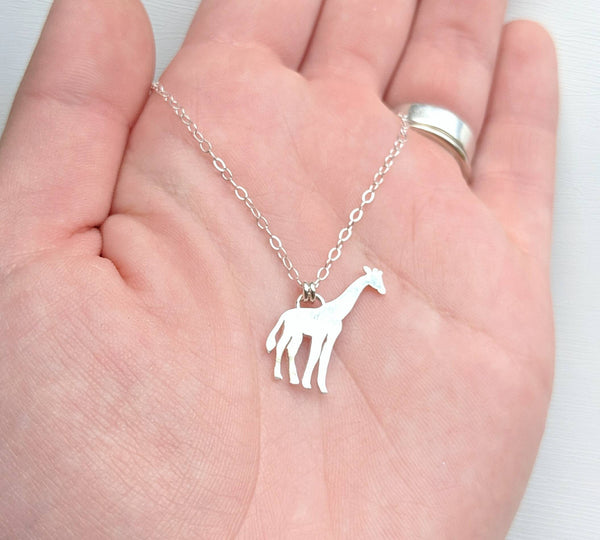 Sterling Silver Giraffe Necklace handmade by An American Metalsmith