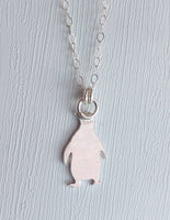 Sterling Silver Penguin Necklace handmade by An American Metalsmith