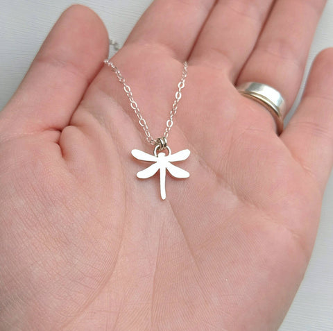 Sterling Silver Dragonfly Necklace handmade by An American Metalsmith