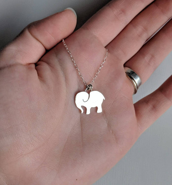 Sterling Silver Elephant Necklace handmade by An American Metalsmith