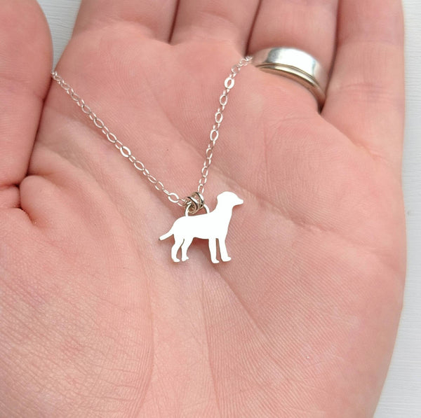 Sterling Silver Dog Necklace handmade by An American Metalsmith