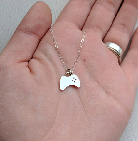 Sterling Silver Gaming Controller Necklace handmade by An American Metalsmith