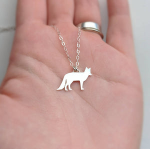 Sterling Silver Fox Necklace handmade by An American Metalsmith