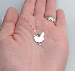 Sterling Silver Rooster Necklace handmade by An American Metalsmith