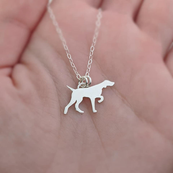 Sterling Silver English Pointer Necklace
