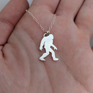 Sterling silver Sasquatch necklace handmade by An American Metalsmith