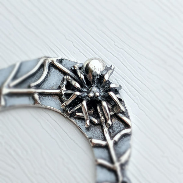 Moon Spider pendant handmade by An American Metalsmith