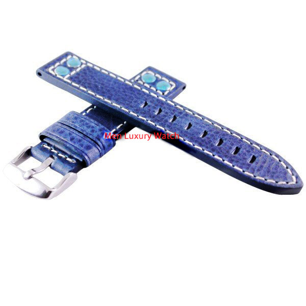 Blue Leather Strap 20mm