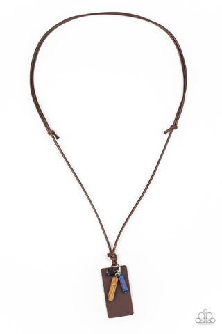 Paparazzi Urban Necklace - Mountain Scout - Brown
