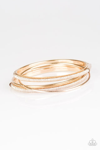 Paparazzi Bracelet - Pay A Hefty SHINE - Rose Gold