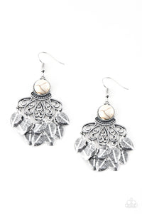 Paparazzi Earring - A Bit On The Wildside - White