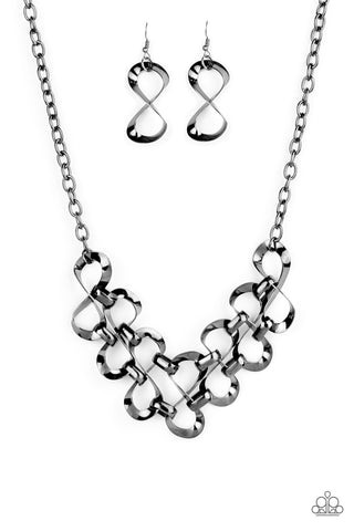 Paparazzi Necklace - Work, Play and Slay - Black