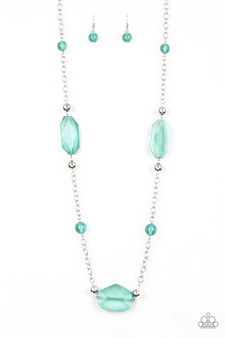 Paparazzi Necklace - Crystal Charm - Green