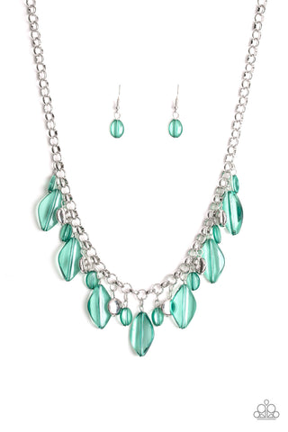 Paparazzi Necklace - Malibu Ice - Green
