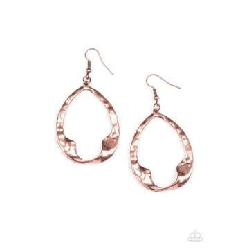 Paparazzi Earring - Twist Me Round - Copper