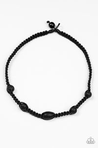 Paparazzi Urban Necklace - Lone Rock - Black