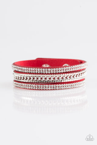 Paparazzi Urban Bracelet - Unstoppable - Red