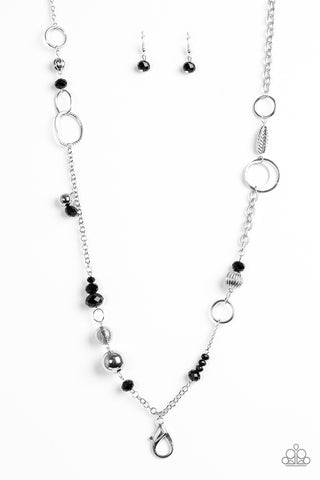 Paparazzi Necklace - Too HAUTE To Handle - Black Lanyard