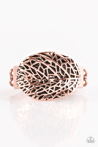 Paparazzi Ring - Never LEAF Me - Copper